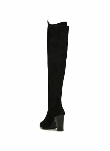 Beymen Club Kumaş Detaylı Deri Çizme Siyah